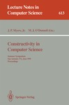 Constructivity in Computer Science by J Paul Myers Jr. and Michael J. O'Donnell